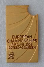 2003 European Championship Air Guns in Sweden Goteborg Official Medal