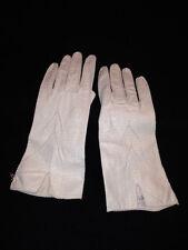 Vintage Winter White Ladies Kid Gloves Size 6 3/4