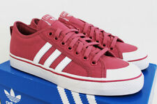 NIB ADIDAS Men's Nizza Trace Maroon White Low Top Skate Sneakers Tennis Shoes