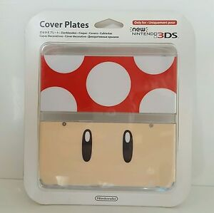 New Nintendo 3DS Cover Plate 7 Red Toad Super Mario 1UP Mushroom skin case shell
