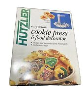 Hutzler Cookie Press And Food Decorator Hardly Used Complete