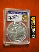 2021 SILVER EAGLE PCGS MS70 THOMAS CLEVELAND FIRST STRIKE NATIVE CHIEF LABEL