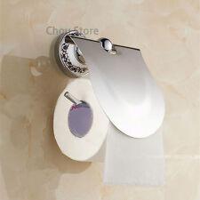 EURO Chrome Bathroom Paper Roll Holder Wall Mounted Toilet Tissue Roller Hanger