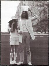 THE BEATLES POSTER PAGE . 1969 GIBRALTAR JOHN LENNON & YOKO ONO WEDDING . I64