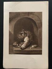 """Vintage 1924 Ecole Hollandaise """"Le Petit Oiseau Mort"""" Print"""