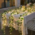 Led Solar Powered Ivy Fairy String Lights Garden Outdoor Wall Fence Light Lamp