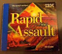 Rapid Assault By IBM 1995 w/ Manual PC CD Vintage Game