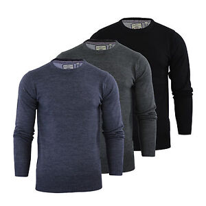 Mens Jumper Brave Soul Urbain Knitted Crew Neck Sweater