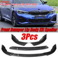 Matte Black Front Bumper Lip Body Spoiler Splitter For BMW G20 3 SERIES