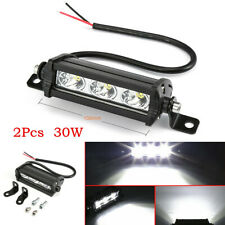 "2X 4"" LED Light Bar Spot Beam 30W 3LED Work Bulb For Car SUV Off-Road Truck 4WD"