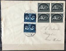 NEDERLAND; NVPH 405 + 407 op brief met dagtekenst. HEKELINGEN (Z.H.) 18-10-43