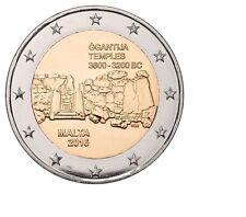 "Malta 2 euro 2016 Unc ""Ggantija tempels"" Commerative - Zo uit de rol"