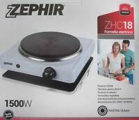 Fornello Elettrico ZHC18 1500W Piastra 18,5 cm campeggio ZEPHIR in metallo nuovo