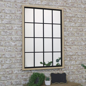 Rustic Rectangle Window Mirror country boho home decor wall scandi industrial
