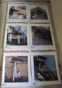 Fine Homebuilding Back Issues Magazines Lot of 6 Entire Year 1995 DIY Remodeling