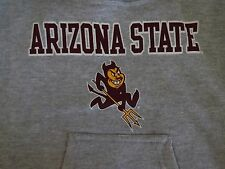 ASU Sun Devils Hoodie Sweatshirt Child's Arizona State 3t Gray Grey Pullover