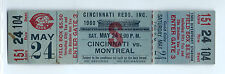 George Foster home run, Bench 2B, full ticket; Montreal Expos at Reds, 5/24/1980