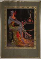 1933 Gene Pressler Thos. D. Murphy Sample Calendar Leggy Flapper La Coquette