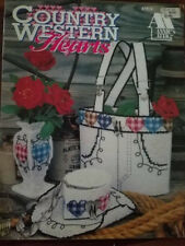 Country Western Plastic Canvas Patterns Tote FREE SHIPPING