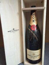 Moët Chandon Swarovski 3 Liter Champagner Flasche Leer mit Holzkiste Deko Shisha