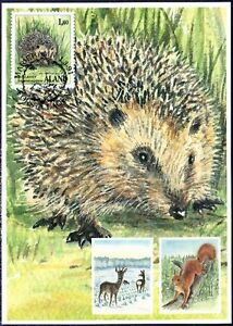 Hedgehog Aland Finland Mint Maxi FDC 1991 RARE!!!!