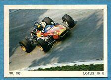 MOTO - Ed. Raf - Figurina/Sticker n. 196 - LOTUS 49 B -Rec
