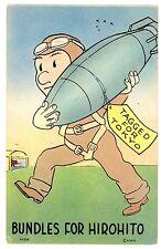 Anti-Japan Propoganda-BOMB FOR HIROHITO-WII Military/Airforce Postcard Comical