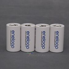 8Pcs Sanyo Eneloop Battery Adaptor Converter AA R6 to C R14 C-Size