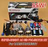 "3"" Universal Bi-Xenon HID Headlights Projector Kit Halo Angel Devil Eye AC/55W!!"