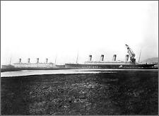 Photo: RMS Titanic & RMS Olympic: Distant Broadside View During Olympic's Repair