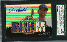 2011 TOPPS TRIBLE THREADS JOSE BAUTISTA AUTO RELICS GOLD 4/9  SGC 8