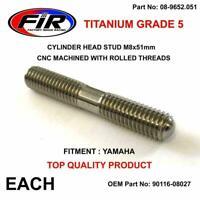TITANIUM CYLINDER HEAD STUD BOLT MOUNT M8x51mm YAMAHA YZ250 YZ 250 07-16