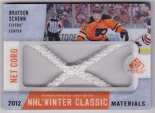 13-14 SP Game Used Brayden Schenn /25 Net Cord NHL Winter Classic Materials 2013