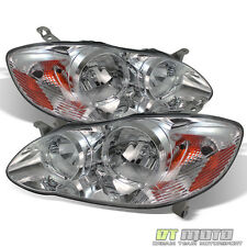 2003-2008 Toyota Corolla Replacement Headlights Amber Signal Lamps Left+Right
