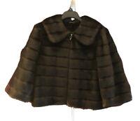 Calvin Klein Women Faux Fur Jacket/coat. Brown, sz S, perfect condition.