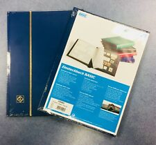 **Premium**⭐️Stamp Stockbook Album⭐️Blue, A4 - 16 Pages/ 32sides ~BLACK PAGES
