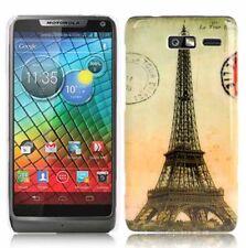 HardCase für Motorola Razr i / XT890 Eiffelturm orange Hülle Cover Schutzcase