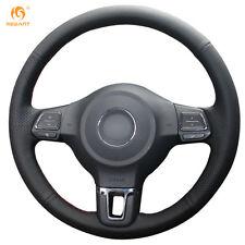 Black Leather Wheel Cover for Volkswagen Golf 6 Mk6 Jetta 6 Polo 2011-2014