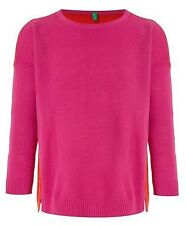 Benetton fille rose pull ras du cou taille 4-5 ans-neuf