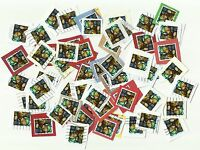 UK 56p stamps (Christmas 2009) x 60, used, on paper