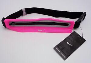 Nike Expandable Lean Waistpack Running Pink/Black/Silver Men's Women's