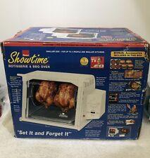 Ronco Showtime Rotisserie & Bbq Oven Compact White Model St3001Whgen.