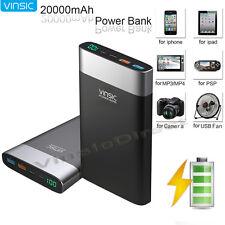Vinsic 20000mAh QC 3.0 Quick Charger USB-C External Power Bank Portable Battery