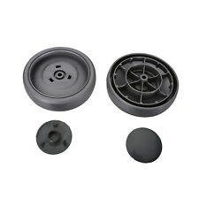 2 x Grey Vacuum Cleaner Hoover Rear Wheels & Cover Cap for All Dyson DC07 & DC14