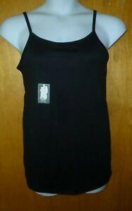 New Womens 2X 20W/22W Black Long Tunic Length Cami Tank Top Super Soft