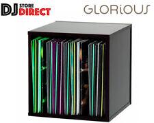 "Glorious Record Box 110 X 12"" LP Vinyl Record Storage BOX in BLACK FREE P&P"