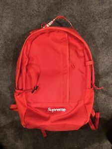 Supreme SS18 Backpack - RED  100% Authentic