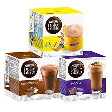 Nescafe Dolce Gusto Colección De Chocolate, incluye: Mocha, Nesquik & Chococino