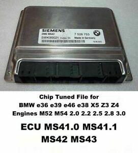 BMW Chip Tuning Service MS42 MS43 E36 E46 E39 E38 X5 M52 M54 3.0 2.8 2.5 2.2 2.0
