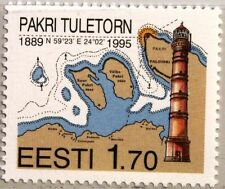 ESTONIA ESTLAND 1995 256 292 Pakri Lighthouse View Leuchtturm Map Karte MNH